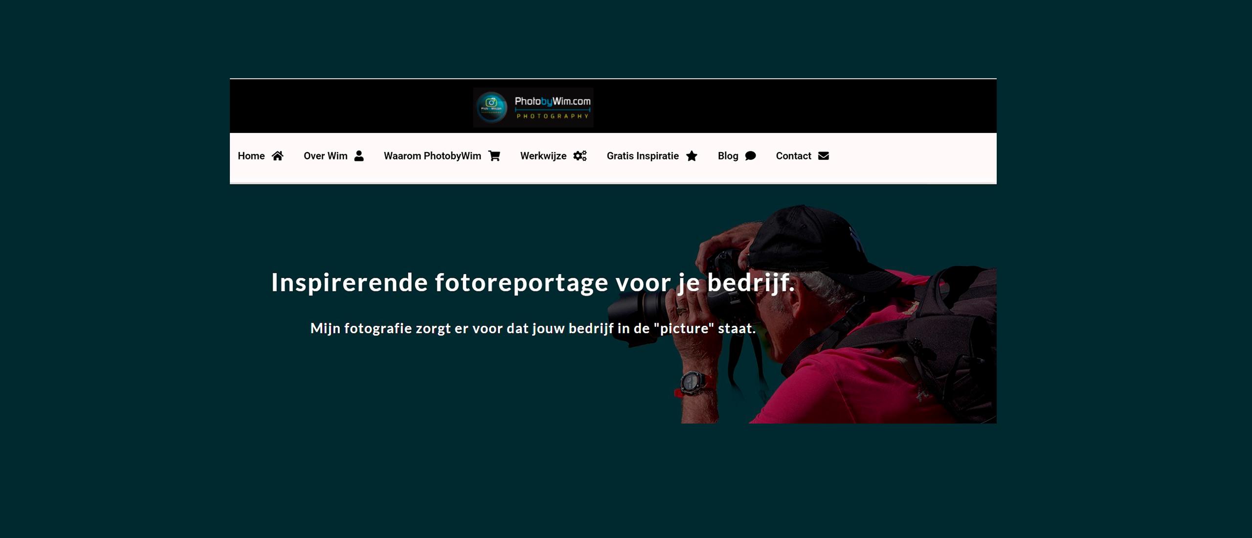 Geheel nieuwe website Photobywim Live