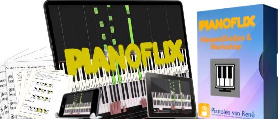 pianoflix pianoles van Rene naspeelliedjes