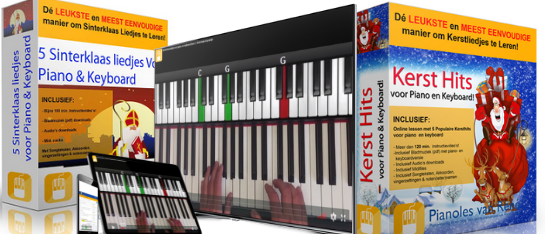 sinterklaasliedjes en kerstliedjes voor piano en keyboard