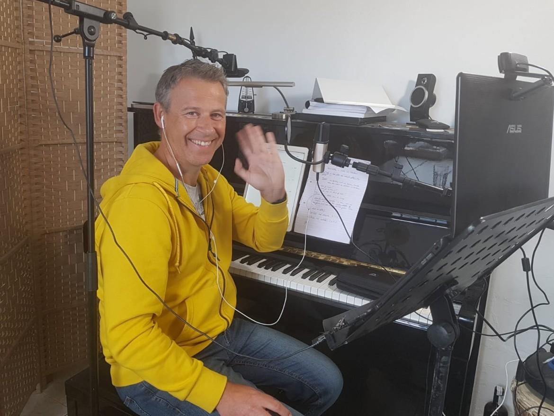online piano leren spelen live met Rene
