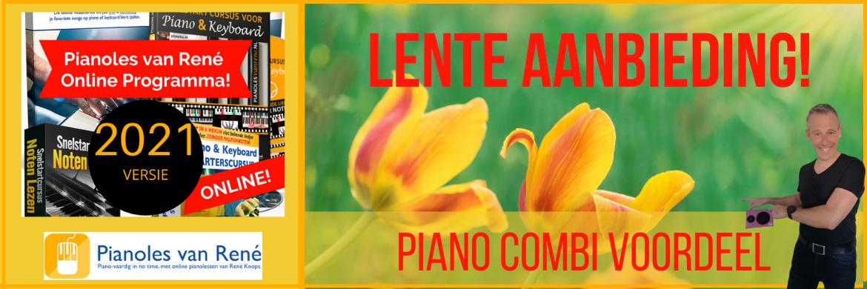 Pianoles van Rene Lente Aanbieding