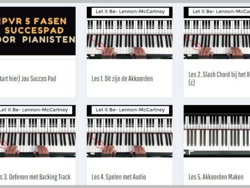 pianolessen overzichtpagina