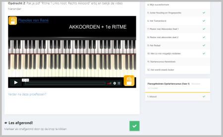 online leeromgeving pianoles van Rene