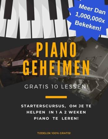 gratis pianolessen van Rene