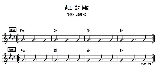 john legend piano leren spelen