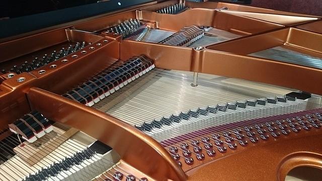 Mechanisch verschil vleugel en piano