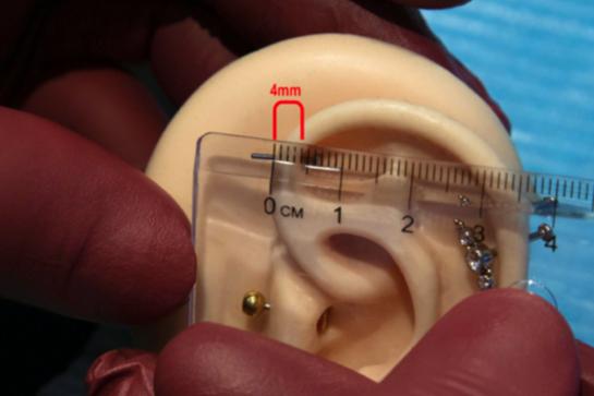 hoe bepaal je de juiste maat van je piercing