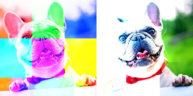 Blending mode color dodge / Overvloei mode kleur tegenhouden