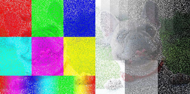 Blending mode dissolve / Overvloei mode verspreiden