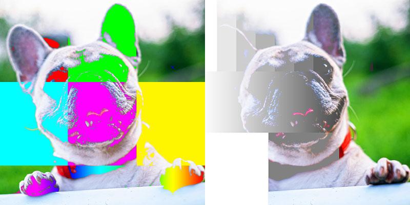 Blending mode lighter color / Overvloei mode lichtere kleur