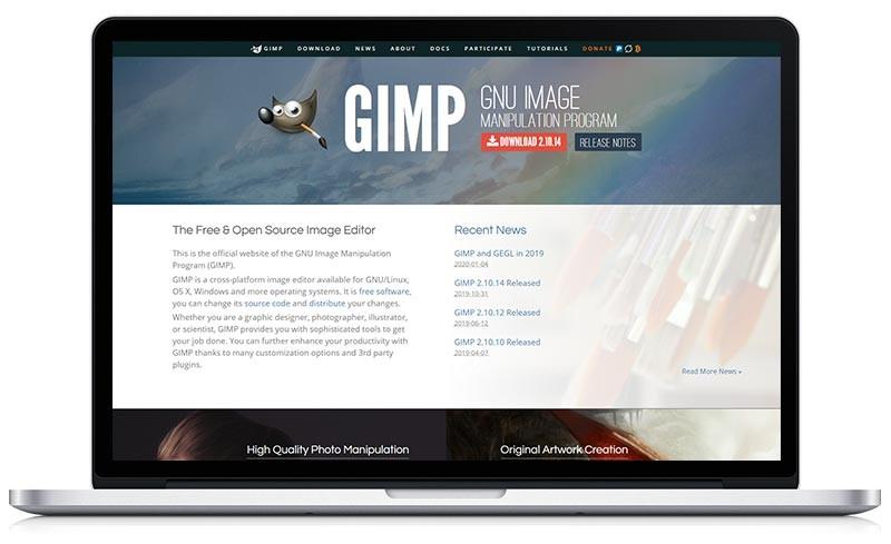 Fotobewerkingsprogramma's - gimp