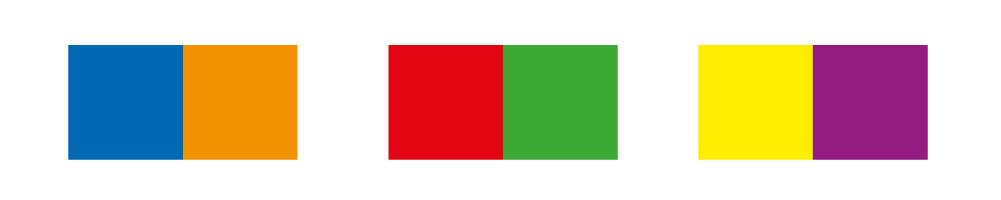 Complementaire kleuren versterken elkaar