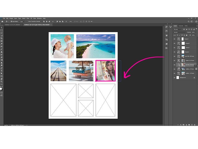 Ontdek verschillende foto collage routes in Photoshop