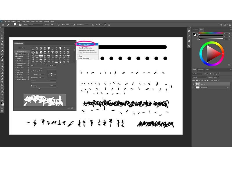 Ik geef je een beknopte uitleg hoe brushes werken in Photoshop