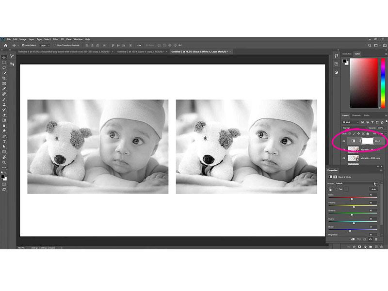 Photoshop cursus maak foto's zwart wit