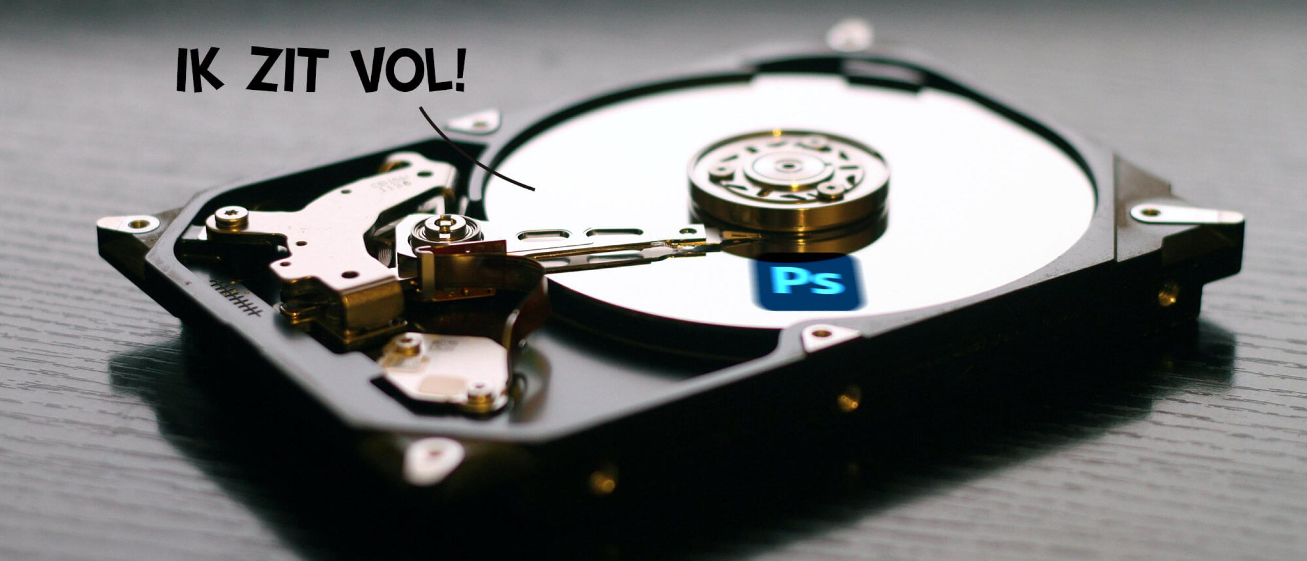 Drie tips voor scratch disk of werkschijf vol in Photoshop
