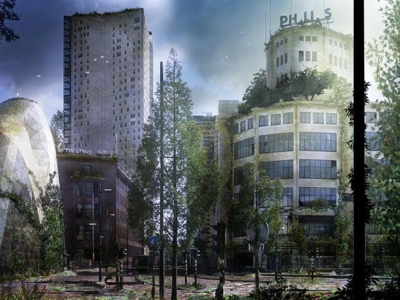 100 jaar verlaten Nederland fotobewerking van Roy Korpel