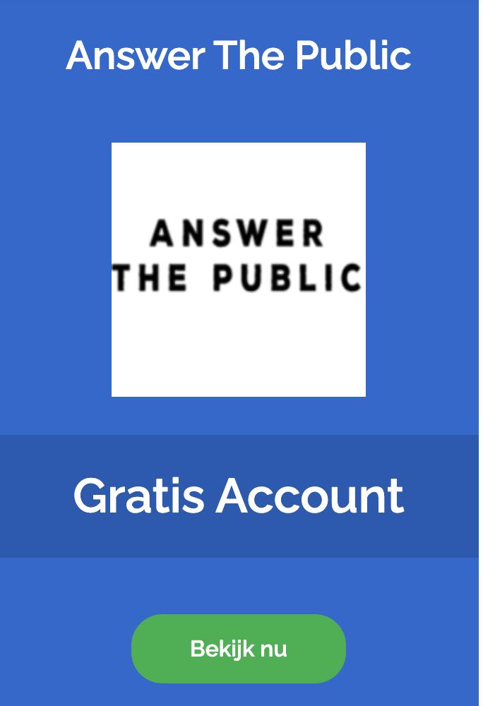 Answer The Public zoekwoorden