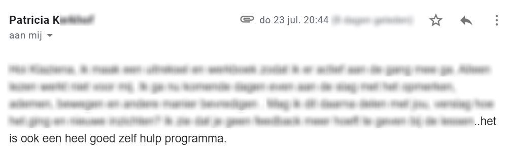 review Patricia GEEF-programma