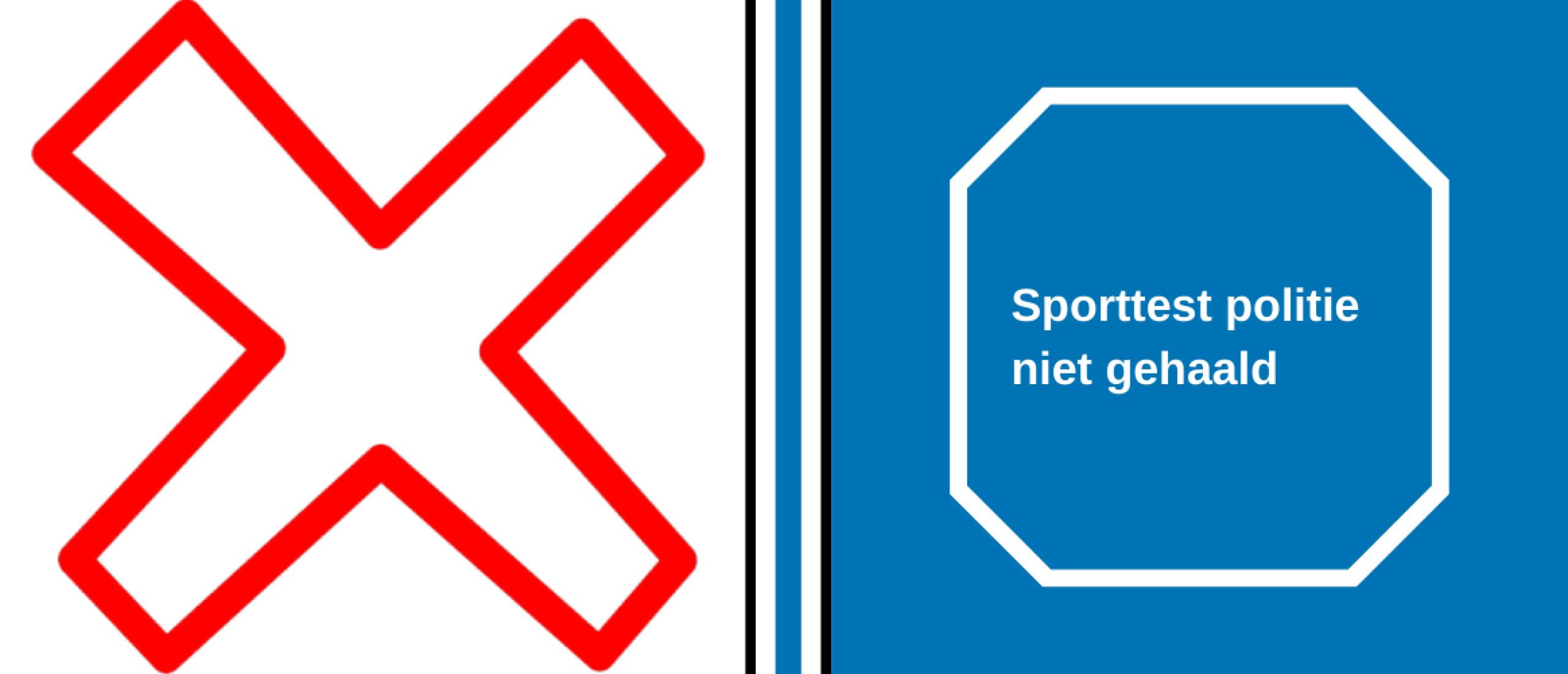 Sporttest politie niet gehaald