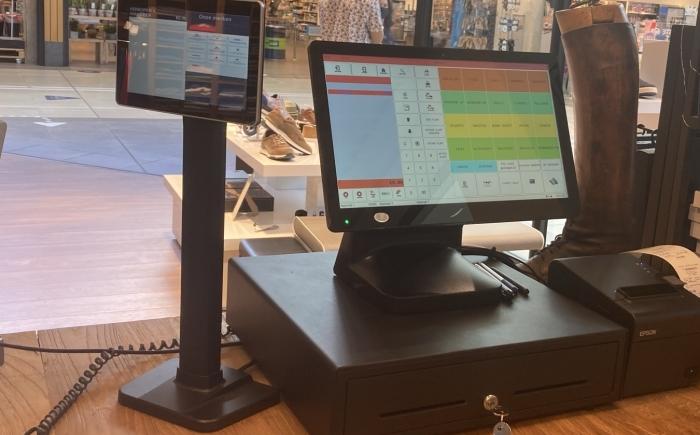 Retail kassasysteem touchscreen pin automaat