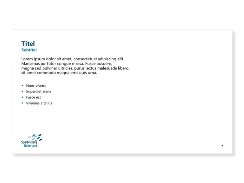 PowerPoint template - Alleen tekst