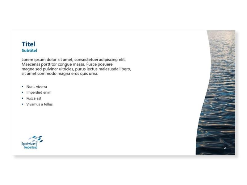 PowerPoint template - Beeld en tekst 25/75