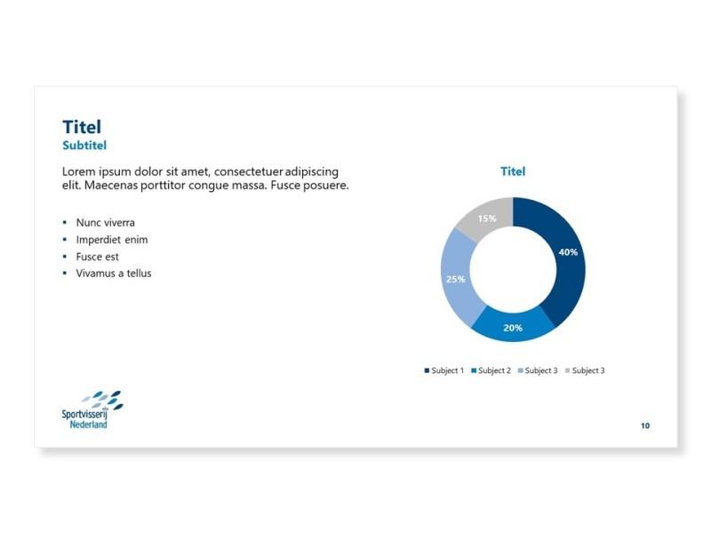 PowerPoint template - Diagrammenslide