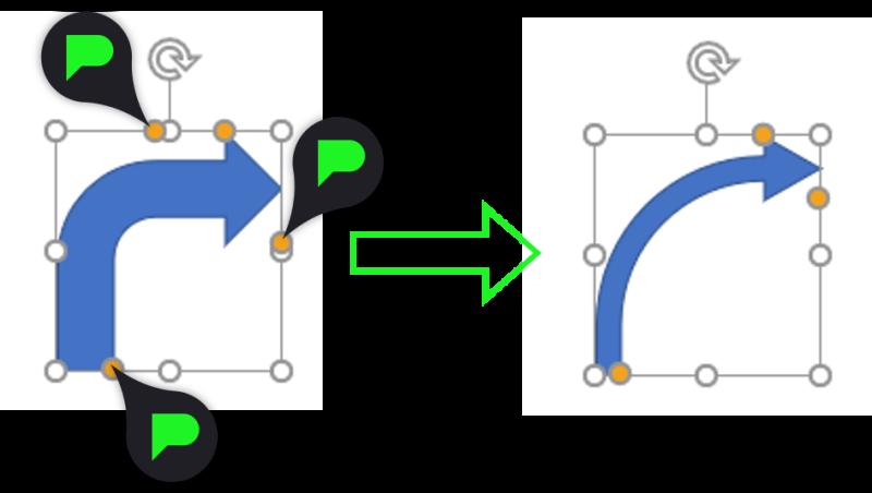 Stap 4: Gebogen pijl aanpassen
