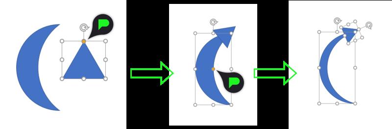 Stap 2: Gebogen pijl maken met vormen