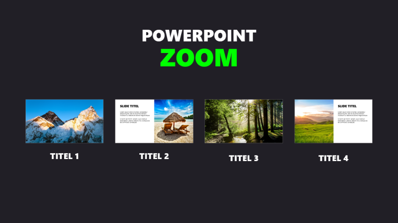 Inzoomen in PowerPoint