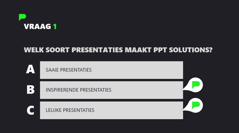 PowerPoint quiz - Stap 8