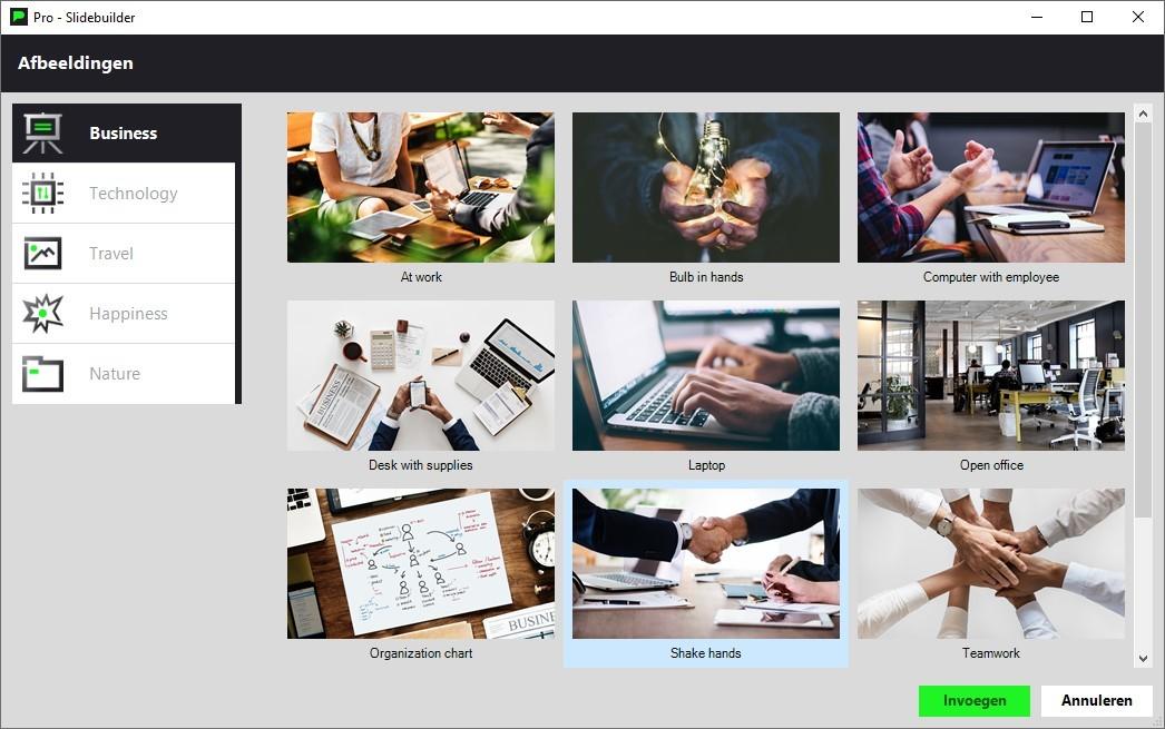 Slidebuilder afbeeldingen in de gratis PowerPoint templates van PPT Solutions.