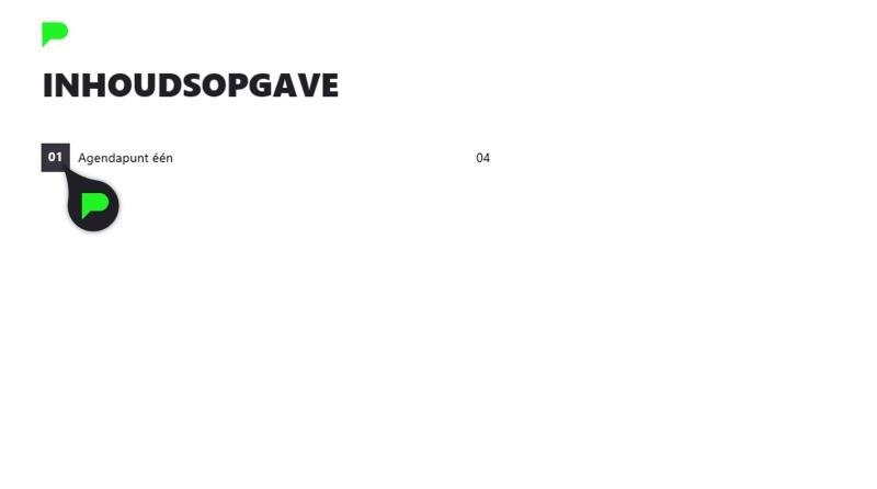 Stap 2.3: Hoofdstuknummer