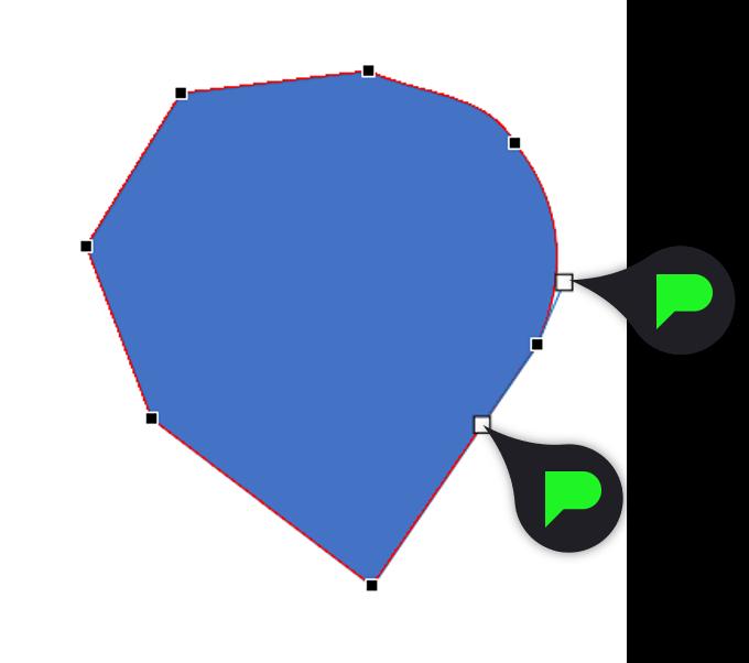 Stap 4.1: Ronde hoeken maken