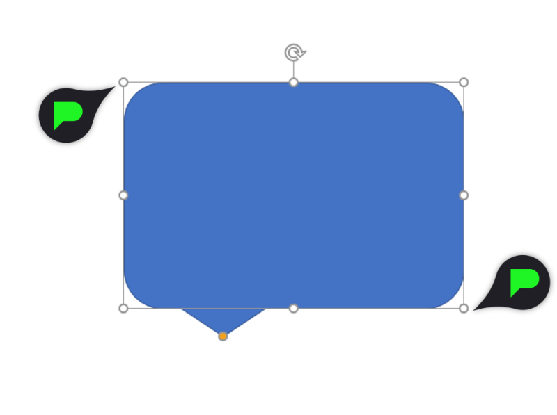 Stap 5.1: Tekstballon formaat aanpassen