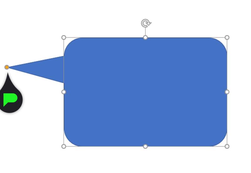 Stap 6: Tekstballon uiteinde aanpassen