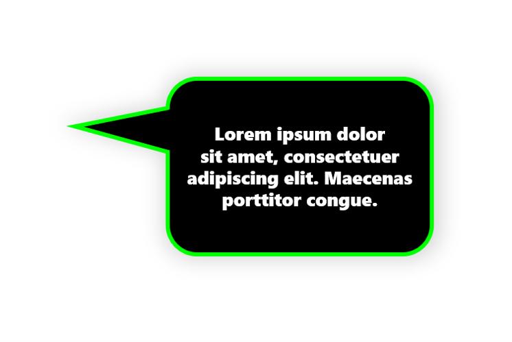 Stap 8.2: Een tekstballon in PowerPoint