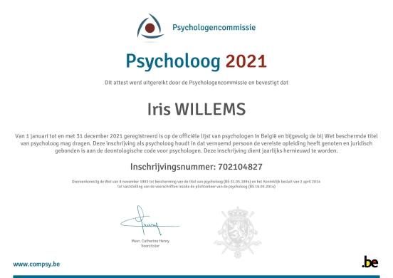erkend psycholoog-Iris Willems