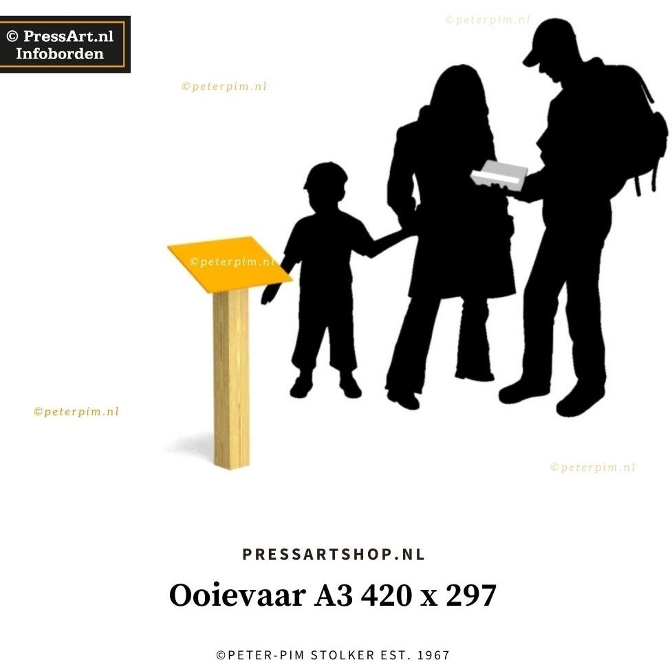 Informatiebord met QR code-Ooievaar-A3-420-x-297
