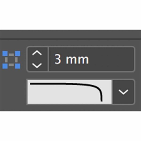 grafische vormgeving informatieborden 3 mm hoek radius instellen