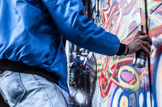 graffiti op je informatiepanelen