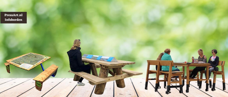 Infopicknick, een Informatiebord in de tafel