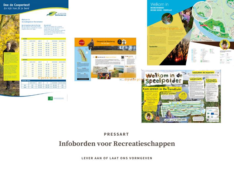 grafische vormgeving informatieborden voor recreatieschappen