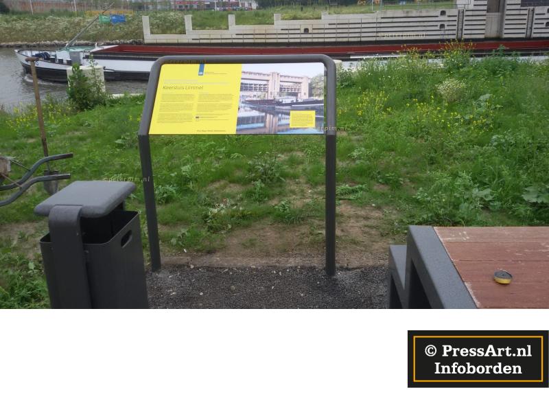 wandelkaart op informatieborden voor recreatieschappen