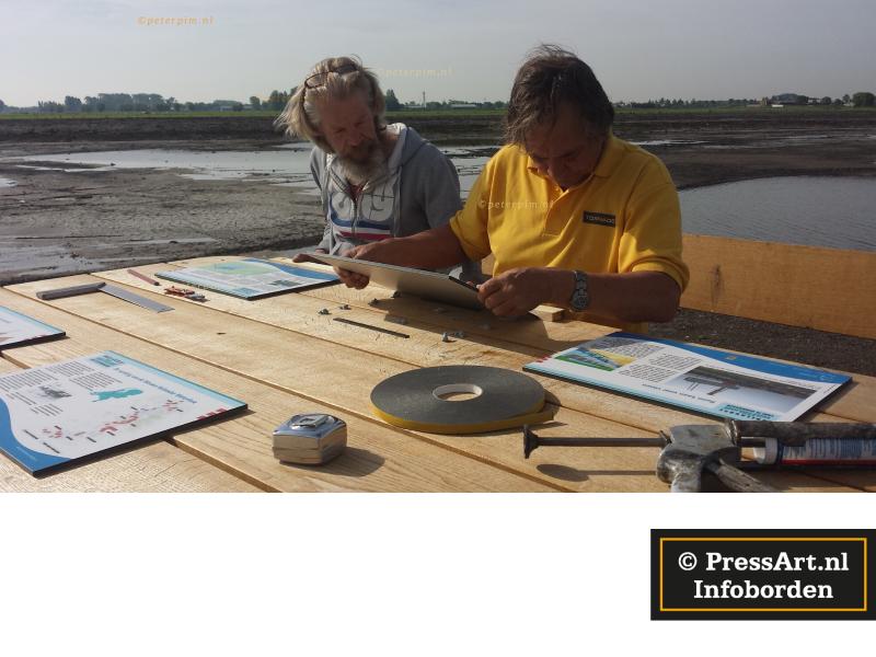 informatieborden bij kunst op het terrein van recreatieschappen