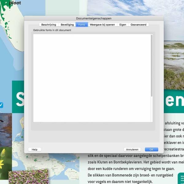 grafische vormgeving informatieborden font check