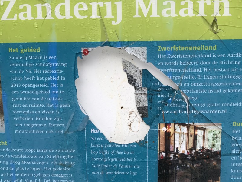 informatieborden voor buiten zijn niet vandaalbestendig