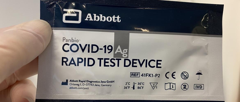 Abbott sneltest ook geschikt voor mensen zonder klachten