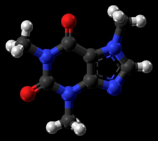 De ruimtelijke structuur van cafeïne